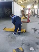Подготовка кран-балки к монтажу
